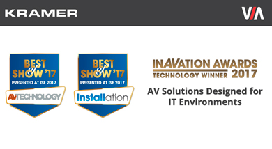 Kramer Electronics Honored for Innovation at ISE 2017