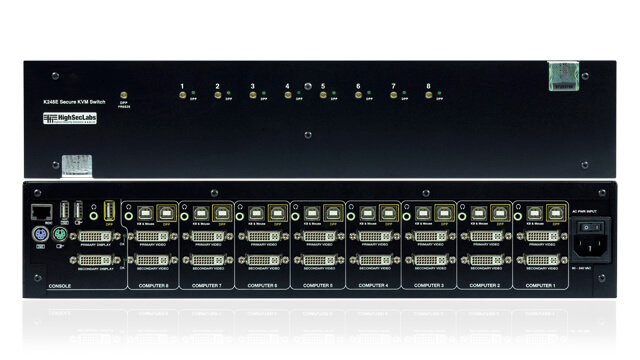 Secured switching for keyboard and mouse (KM) or keyboard, video, and mouse (KVM) devices