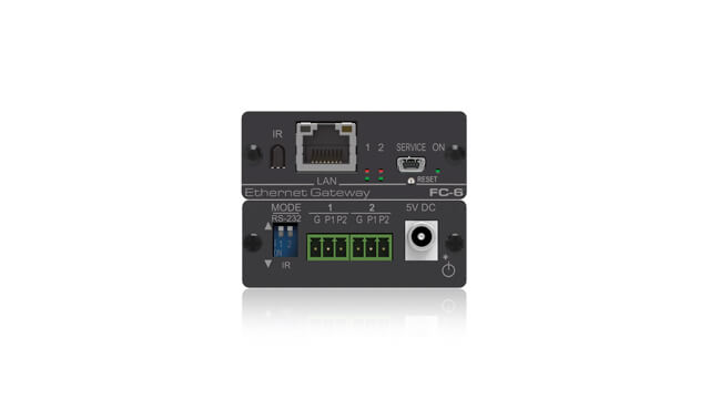 IP-accessed gateways to remotely control room devices via Serial, IR, GPI/O and Relay connections