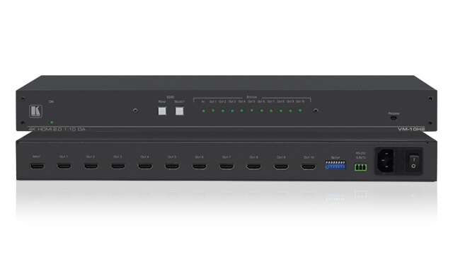 Distribute a single or selected digital audio/video input signal to multiple outputs