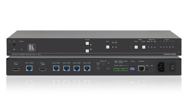 Distribute and extend a single or selected digital audio/video input signal to multiple outputs