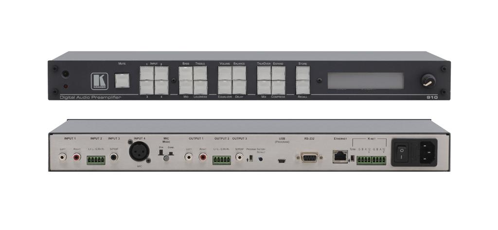 Kramer Introduces the 910 Digital Audio Preamplifier & Mixer