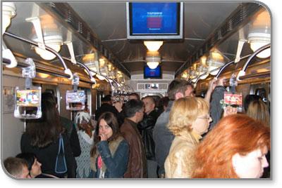 Kramer Helps Drive the Kiev  Underground