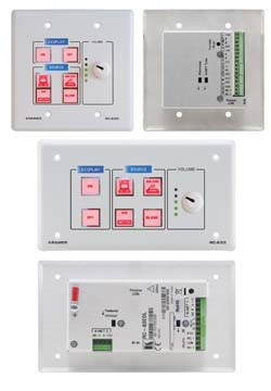 Kramer Introduces RC-63DL 6-Button Room Controller  with Digital Volume Knob & LCD Group Labels