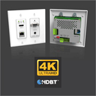 Kramer Launches Unique, Fully−Featured  4K HDBaseT Wall Plate Auto Switcher