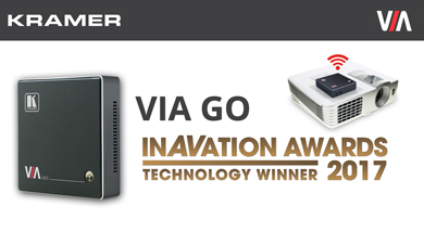 Kramer Wins 2017 ISE InAVation Award for New Wireless Presentation Product