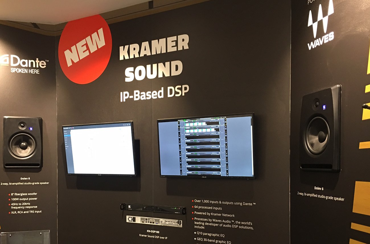 Kramer Showcasing Industry's First Digital Sound Processor (DSP) over IP at InfoComm 2017