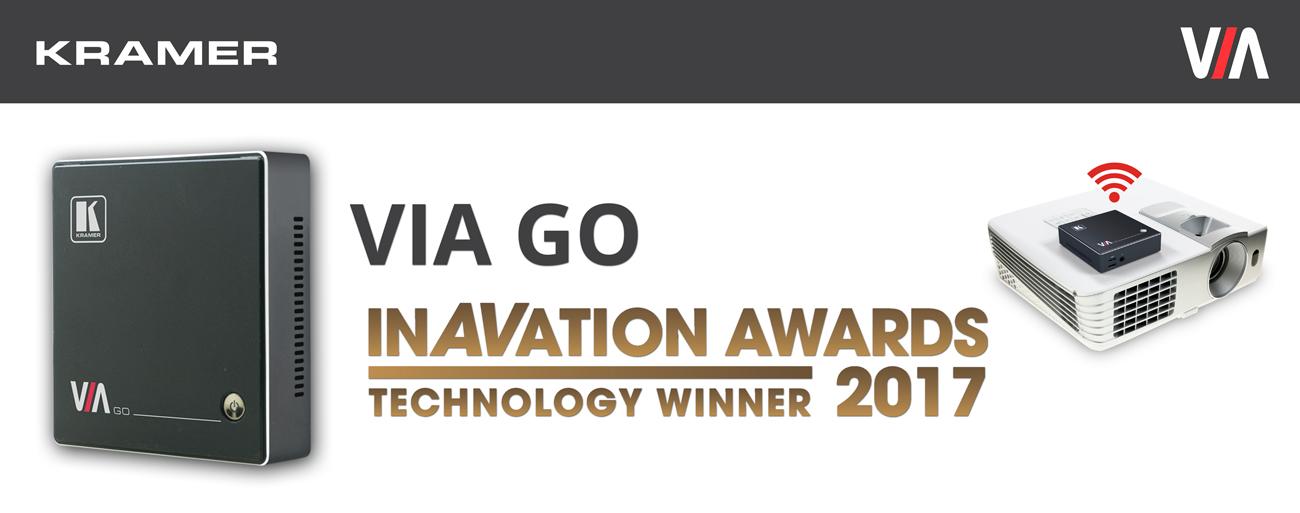 Kramer Wins 2017 ISE InAVation Award for New Wireless Presentation Product