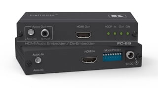 High-end converters for multiple analog and digital signal types used in professional AV systems