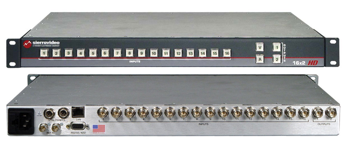 SIERRA VIDEO INTRODUCES 1602HD MONITORING SWITCHER™ SERIES
