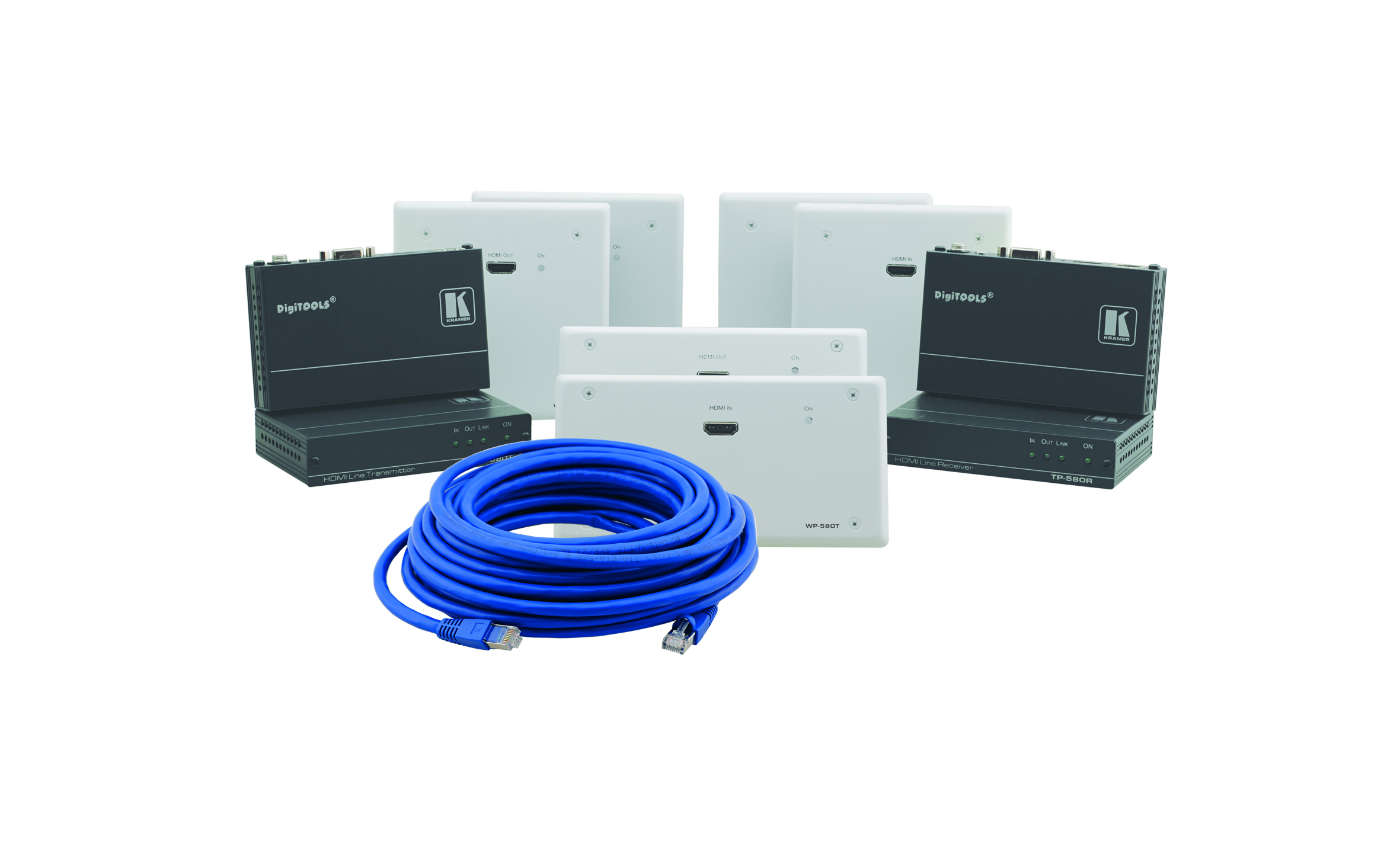 Kramer's Range Extenders, TP−580R/T, TP−580RXR/TXR, WP−580R/T and WP−580RXR/TXR officially certified by the HDBaseT Alliance