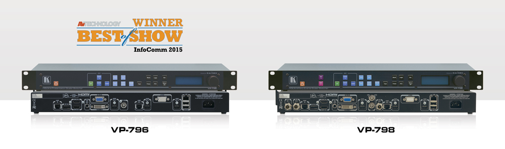 Kramer Introduces Fastest Ever Single−Channel 4K Presentation Scaler−Switchers at InfoComm 2015