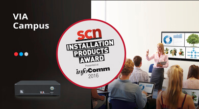 VIA Campus Wins Most Innovative Collaboration Product Award at InfoComm 2016