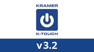 Kramer Upgrades Award−Winning K−Touch Cloud−Based Control Solution