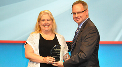 Malissa Dillman wins Educator of the Year award