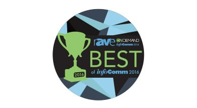 Kramer Control and VIA Campus win rAVe's Best of InfoComm 2016
