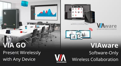 Two New Innovative Offerings from Kramer VIA Wireless Collaboration Solutions at ISE 2017