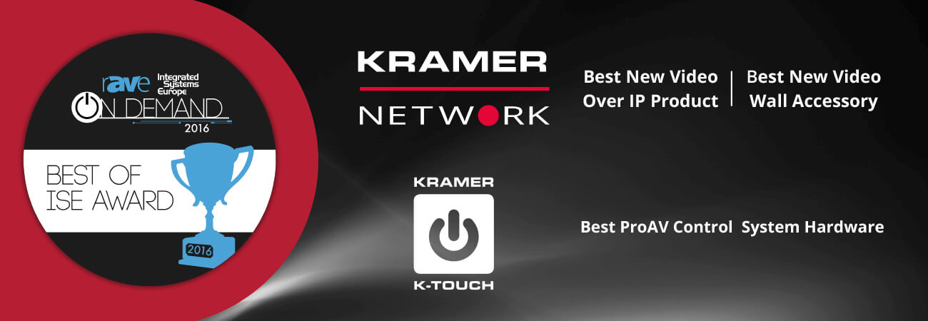 Kramer Selected by rAVe Publications for Three Best of ISE Awards
