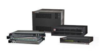 High-capacity professional AV switching and terminal equipment for post-production, broadcasting, and digital or analog applications