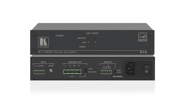 High-end single or multi-channel power amplifiers and audio switchers