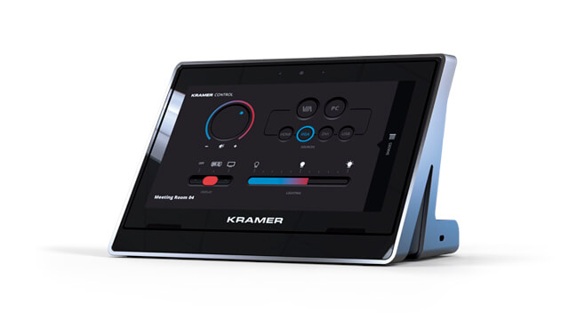 Tabletop and wall-mounted high-quality touch panels for easy-to-use room control operations