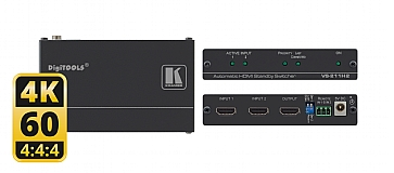 VS-211H2-2x1 4K60 4:4:4 HDCP 2.2 HDMI 2.0 Automatic Standby Switcher