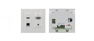 WP-5VH2-Active Wall Plate − 4K60 4:2:0 HDMI & Computer Graphics with Ethernet, Bidirectional RS−232 & Stereo Audio HDBaseT Transmitter